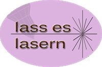 Lass es lasern Logo